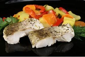 Рыба хек с овощами